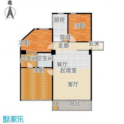 高欣公寓140.30㎡房型: 三房; 面积段: 140.3 -171.51 平方米; 户型