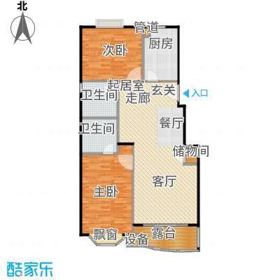 汇峰花苑97.56㎡房型: 二房; 面积段: 97.56 -97.56 平方米; 户型