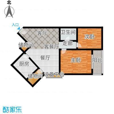 华山正力公寓-静巷府邸110平方米两室两厅一卫户型
