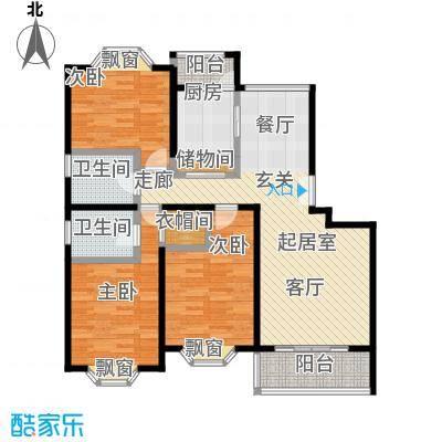 海逸公寓一期107.02㎡房型: 三房; 面积段: 107.02 -138.22 平方米;户型