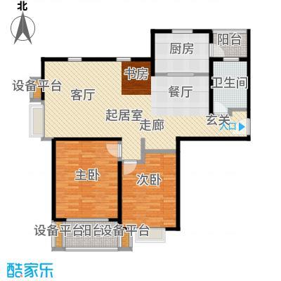 虹桥万博花园一期103.42㎡房型: 二房; 面积段: 103.42 -115.47 平方米; 户型