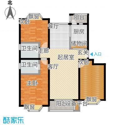海逸公寓一期107.02㎡房型: 三房; 面积段: 107.02 -138.22 平方米; 户型