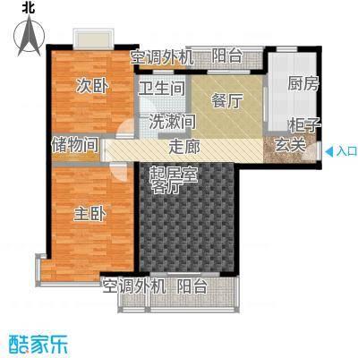 虹桥万博花园二期104.17㎡房型: 二房; 面积段: 104.17 -115.23 平方米;户型
