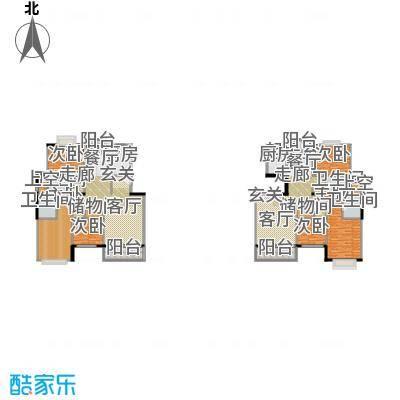 景博新园一期121.00㎡房型: 三房; 面积段: 121 -136 平方米; 户型