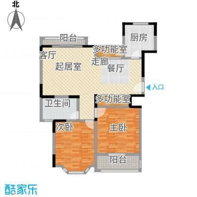 郁庭峰南园96.00㎡房型: 二房; 面积段: 96 -107 平方米; 户型