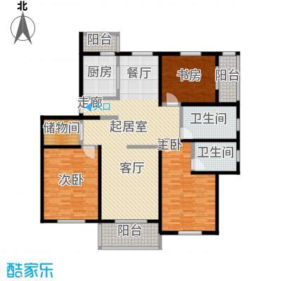 铭晖西郊苑二期128.23㎡房型: 三房; 面积段: 128.23 -148.45 平方米; 户型