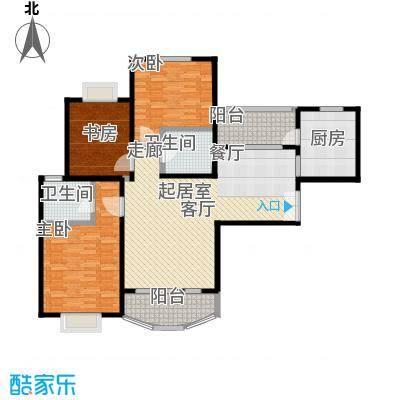 长宁新城127.90㎡房型: 三房; 面积段: 127.9 -147.08 平方米;户型