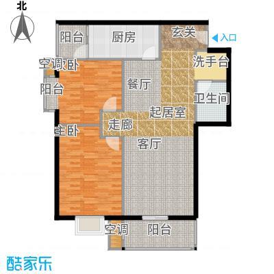 正力公寓107.1平方米两房南北通户型