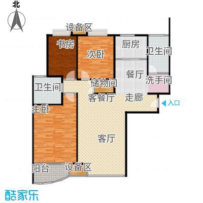 均泰丽轩3室2厅2卫 123.27㎡ 3室2厅2卫1厨123.27㎡户型