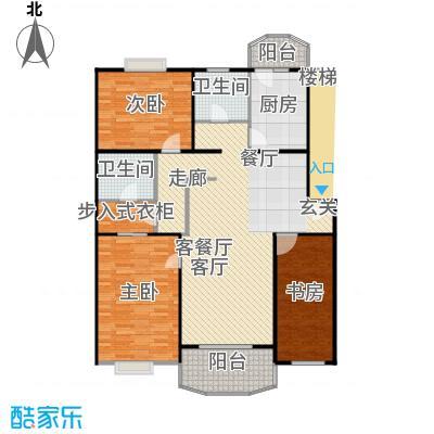 南草坪花园123.74㎡房型: 三房; 面积段: 123.74 -129.44 平方米;户型