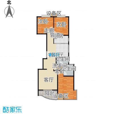 均泰丽轩3室2厅2卫 148.16平米户型