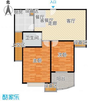 均泰丽轩2室2厅1卫 85.19平米户型