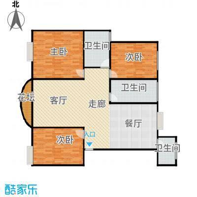 新都城公寓125.00㎡125平方米三室两厅两卫南北通户型