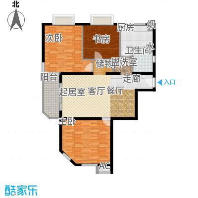 上海壹街区一期134.00㎡房型: 三房; 面积段: 134 -134 平方米; 户型