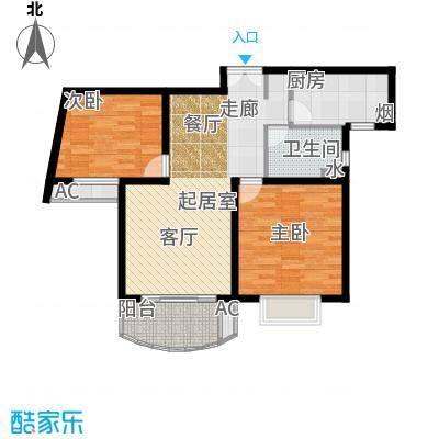 上海壹街区一期89.00㎡房型: 二房; 面积段: 89 -89 平方米; 户型