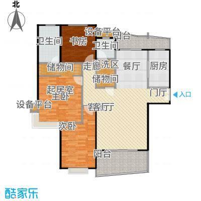 静安丽舍二期124.12㎡房型: 三房; 面积段: 124.12 -169.81 平方米;户型