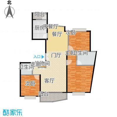 上海壹街区二期149.78㎡房型: 三房; 面积段: 149.78 -171.98 平方米; 户型