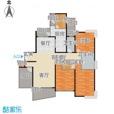国际丽都城三期194.00㎡房型: 四房; 面积段: 194 -199 平方米;户型