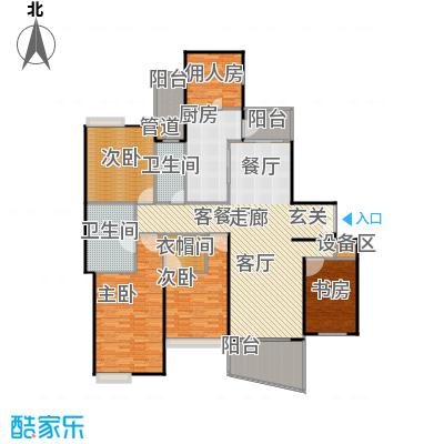 国际丽都城三期194.00㎡房型: 四房; 面积段: 194 -199 平方米; 户型