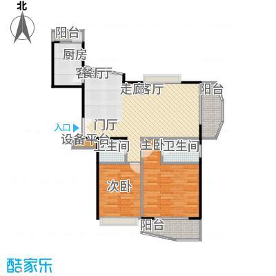 上海壹街区二期86.07㎡房型: 二房; 面积段: 86.07 -122.17 平方米; 户型