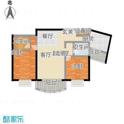 国际丽都城一期二期111.00㎡房型: 二房; 面积段: 111 -111 平方米; 户型