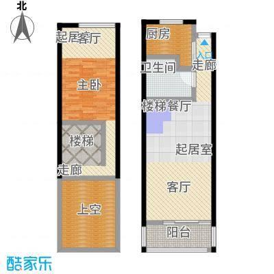 静安新格公寓48.00㎡房型: 一房; 面积段: 48 -52 平方米; 户型