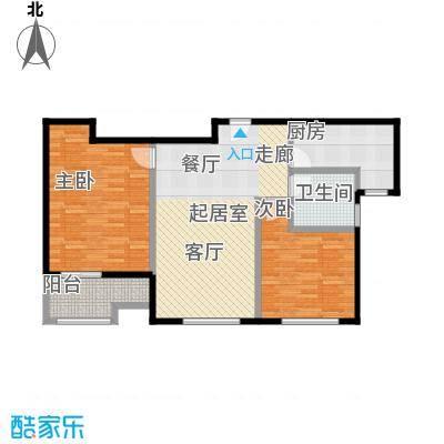 恒盛鼎城华公馆H28267-8295户型2室1卫1厨
