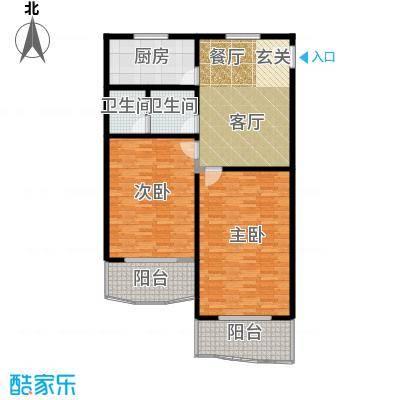 鸿鹄公寓103.74㎡房型: 二房; 面积段: 103.74 -114.59 平方米;户型