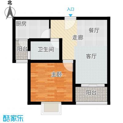 江南名庐53.67㎡户型10室