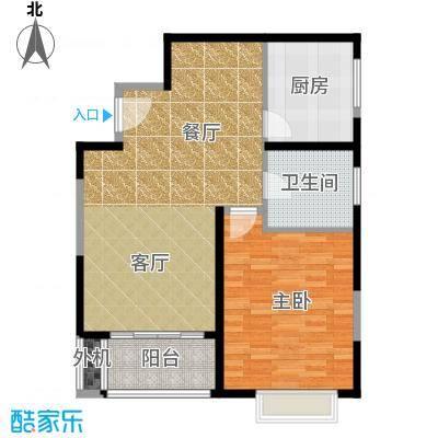 万里双子座74.00㎡房型: 一房; 面积段: 74 -75 平方米; 户型
