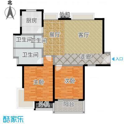 万里双子座115.00㎡房型: 二房; 面积段: 115 -116 平方米; 户型