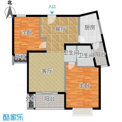 万里双子座95.00㎡房型: 二房; 面积段: 95 -98 平方米; 户型
