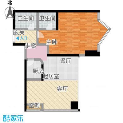 MINI公馆95.79平米户型