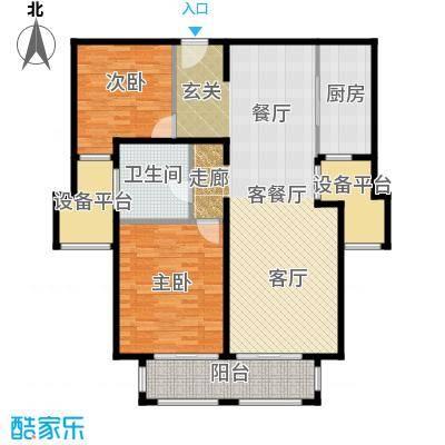 西康路989B四号楼户型2室1厅1卫1厨