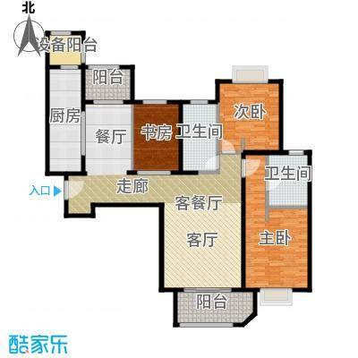 西康路989E户型3室1厅2卫1厨
