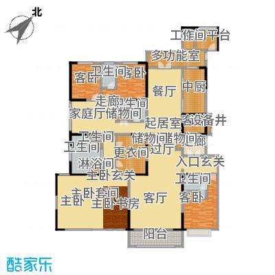 中海紫御豪庭C户型3室5卫