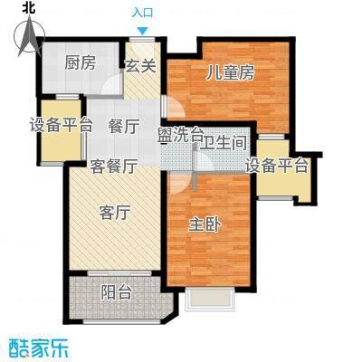 西康路9896#D户型2室1厅1卫1厨