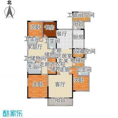 中海紫御豪庭BCC户型4室4卫1厨