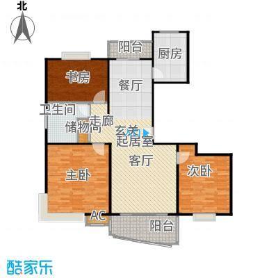 河滨香景园120.00㎡房型: 三房; 面积段: 120 -147 平方米; 户型