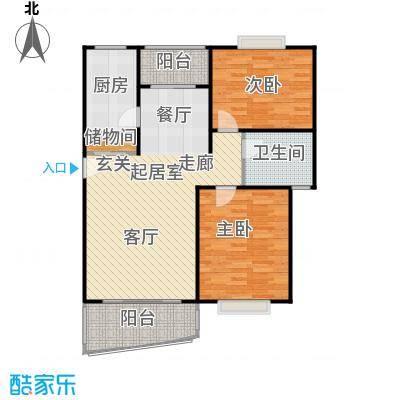 河滨香景园94.00㎡房型: 二房; 面积段: 94 -122 平方米; 户型