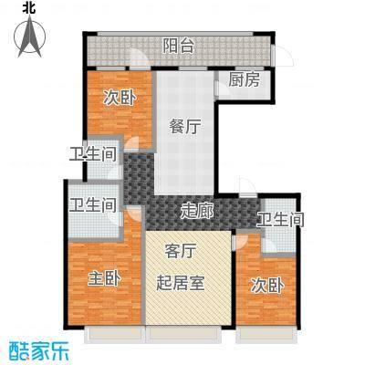 上海星光域洋房J户型3室3卫1厨