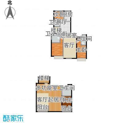 上海星光域洋房G户型4室4卫1厨