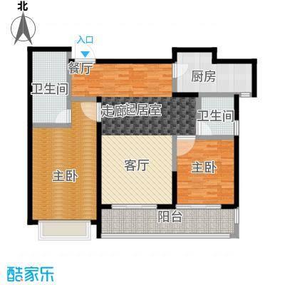 上海星光域墅区公馆-B户型2室2卫1厨