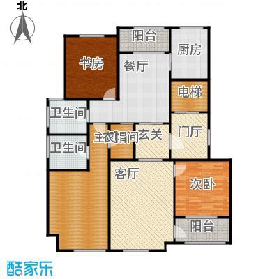 上河湾F1户型3室2厅2卫1厨