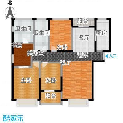 上海星光域墅区公馆-D户型4室2卫1厨