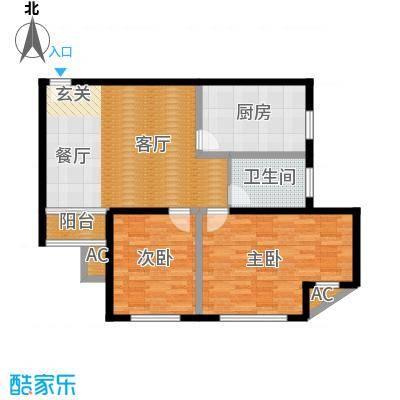 大众河滨大厦94.00㎡房型: 二房; 面积段: 94 -99 平方米;户型