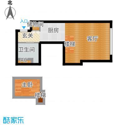 大众河滨大厦36.00㎡房型: 一房; 面积段: 36 -57 平方米;户型