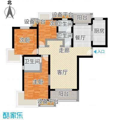 中环花苑一期120.00㎡房型: 三房; 面积段: 120 -130 平方米; 户型