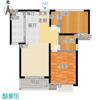 绿洲湖畔花园一期98.77㎡房型: 二房; 面积段: 98.77 -98.93 平方米;户型