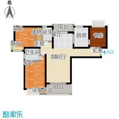 绿洲湖畔花园一期116.00㎡房型: 三房; 面积段: 116 -136 平方米; 户型